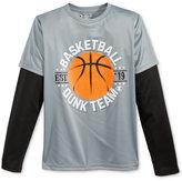Champion Long-Sleeve Basketball-Print T-Shirt, Little Boys (2-7)
