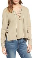 Pam & Gela Women's Lace-Up Sweatshirt