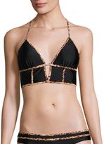 Sofia by Vix Solid Black Demi Bikini Top