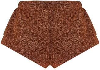 Oseree Metallic Effect Short Shorts