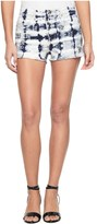Juicy Couture Tie Dye Wash Short With Embellishment