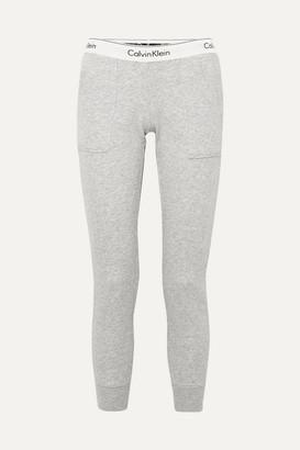 Calvin Klein Underwear Cotton-blend Jersey Track Pants - Gray