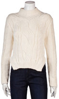 Cableknit Sweater In Ivory