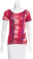 Piazza Sempione Silk Tie-Dye Top