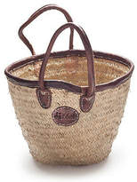NEW Medium bucket basket with leather trim Women's by 2 duck trading co
