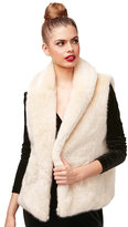 Betsey Johnson Twinkle Sprinkle Faux Fur Vest