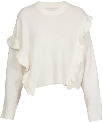 3.1 Phillip Lim Cropped Ruffle Trim Sweater