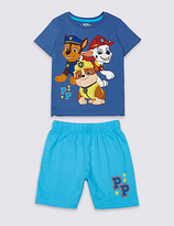 Marks and Spencer Paw Patrol Cotton Rich Short Pyjamas (1-6 Years)