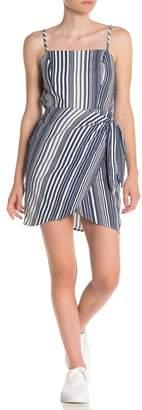 BAILEY BLUE Striped Square Neck Dress