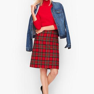 Talbots Plaid Sparkle A-Line Skirt