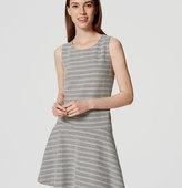 LOFT Petite Textured Stripe Drop Waist Dress
