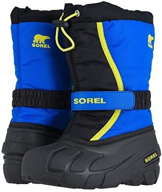 Sorel Flurry (Toddler/Little Kid/Big Kid) (Black/Super Blue 1) Boys Shoes