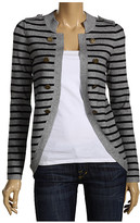 Striped Military Cardigan