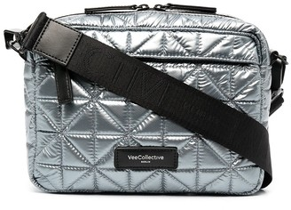 VeeCollective Quilted Leather Crossbody Bag