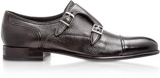 Moreschi Eze Dark Brown Deerskin Monk Shoes