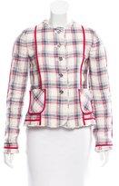 Dolce & Gabbana Plaid Linen Blazer