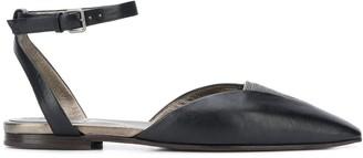 Brunello Cucinelli Pointed Toe Sandals