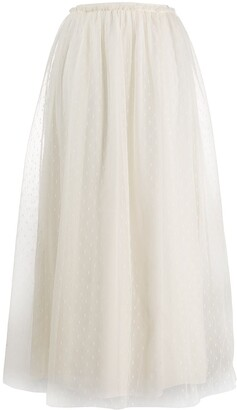 RED Valentino Point D'esprit Tulle Knit Skirt