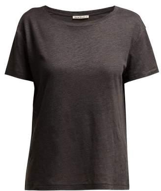 Acne Studios Eldora Linen T Shirt - Womens - Dark Grey