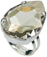 Swarovski Krystal Tear Drop Gem Adjustable Ring