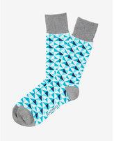 Express Diamond Print Dress Socks