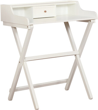 Linon Coy White Folding Desk