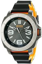 HUGO BOSS BOSS Orange Men's 1513109 Sao Paulo Two-Tone Watch with Black Silicone Band
