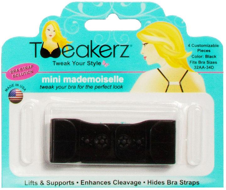 Tweakerz Customizable Bra Strap Solution, Mini Mademoiselle (Sizes 32AA-34D), Black 1 ea