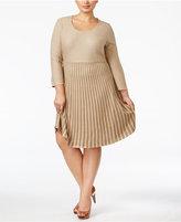Calvin Klein Plus Size Skater Sweater Dress
