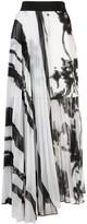 Silvia Tcherassi Gaelle striped pleated skirt