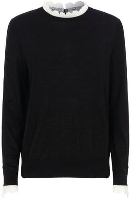 Sandro Paris Ruffled Trim Sweater