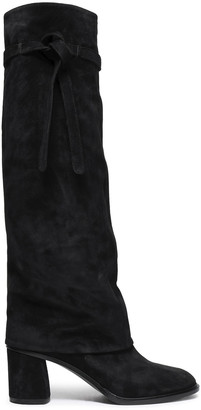 Casadei Knotted Suede Boots