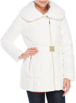 Cole Haan Asymmetrical Belted Down Coat