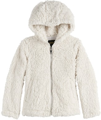 Steve Madden Girls 7-16 NYC Cozy Hooded Zip-Up Front Jacket
