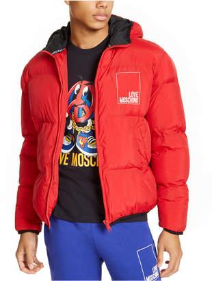 Love Moschino Men Box Logo Hooded Puffer Jacket