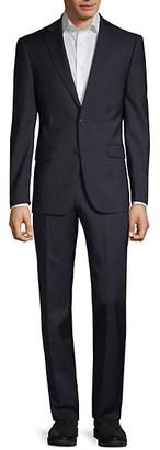 Calvin Klein Slim-Fit Pinstripe Wool Suit