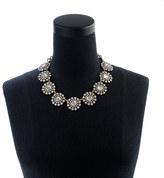 J.Crew Crystal circle necklace