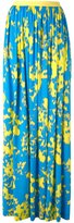 Ungaro abstract print pleated skirt
