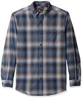 Wolverine Men's Big and Tall Hammond Long Sleeve Brushed Flannel Shirt