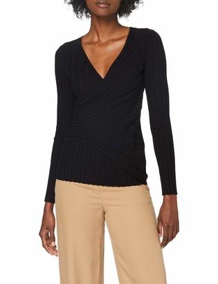 Sisley Women's V Neck Sweater L/s