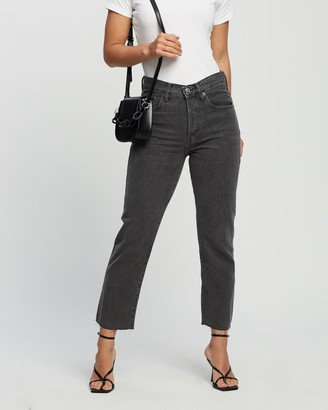 Mng Women's Black Crop - Havana Jeans - Size 34 at The Iconic