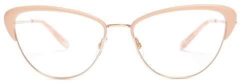 Garrett Leight Vista 53 Cat Eye Frame Glasses - Womens - Pink