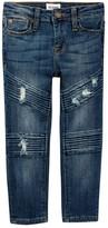 Hudson Backfired Moto Skinny Jeans (Toddler Girls)