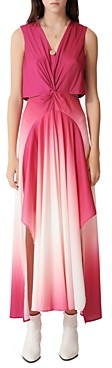 Maje Resia Sleeveless Ombre Maxi Dress