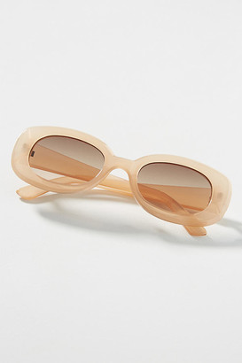 BEIGE Alabama Rectangular Sunglasses By I-SEA in Size ALL