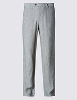M&S Collection Tailored Fit Pure Linen Chinos
