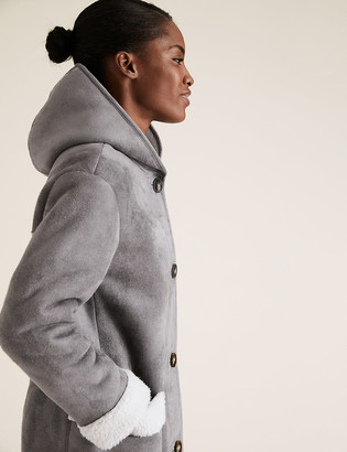 Marks and Spencer Faux Shearling Coat