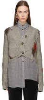 Acne Studios Beige Wool Lysa Cropped Cardigan