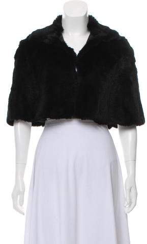 Theory Collared Fur Cape