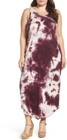 Sejour Plus Size Women's Tie Dye Maxi Tank Dress